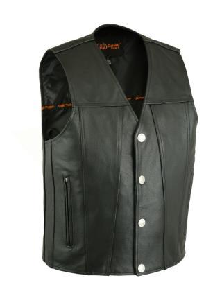 Daniel Smart Men's Buffalo Snap Single Panel Leather Vest