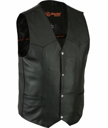 Daniel Smart Men's Single Panel Leather Vest